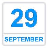 September 29 Dag på kalendern Arkivbilder