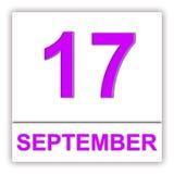 September 17 Dag på kalendern Arkivfoton