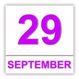 September 29 Dag på kalendern Royaltyfria Bilder