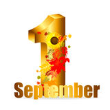 1 september date vector illustration Stock Photography