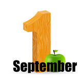 1 september date vector illustration Royalty Free Stock Photography