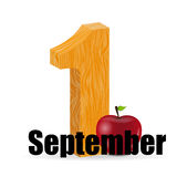 1 september date vector illustration Stock Image