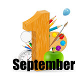 1 september date vector illustration Royalty Free Stock Images