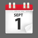 1 september date vector illustration. This is file of EPS10 format Royalty Free Stock Image