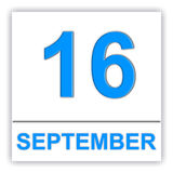 September 16. Day on the calendar. Stock Photography