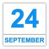 September 24. Day on the calendar. Stock Photo