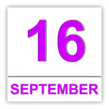 September 16. Day on the calendar. Royalty Free Stock Images