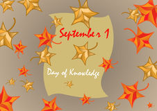 1 September is the day of knowledge. Stock  illustration Royalty Free Stock Photography