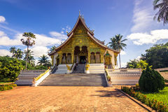 20 september, 2014: De Klaptempel van hagedoornpha in Luang Prabang, Laos Stock Foto's