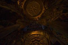 September 14, 2014 Den riktiga templet är en unik tempelcompletel Arkivfoto