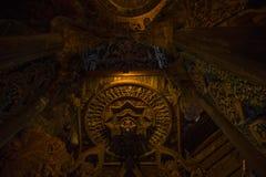 September 14, 2014 Den riktiga templet är en unik tempelcompletel Royaltyfri Fotografi