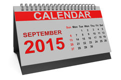 September 2015, desk calendar Stock Photo