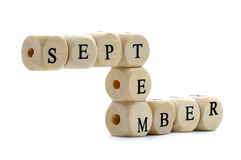 September dices Stock Photography