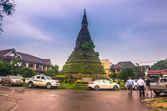 25 september, 2014: Die Dam Stupa in Vientiane, Laos Stock Fotografie