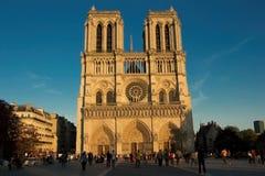 9. September 2015 die Kathedrale Notre Dame, Paris, Frankreich Lizenzfreie Stockfotos