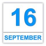 September 16 Dzień na kalendarzu Fotografia Stock