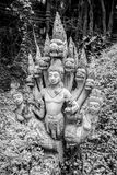 14. September 2014 - eins der geschädigten Elemente schmücken den Tempel von Tr Lizenzfreie Stockbilder