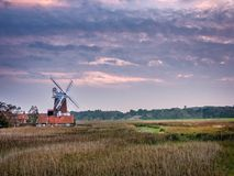September Evening At Cley Windmill Stock Photos
