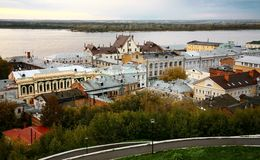 September evening view of the oldest part Nizhny Novgorod Stock Photo