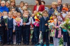 September första- dag av kunskap i Ryssland Royaltyfria Foton