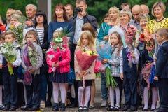 September första- dag av kunskap i Ryssland Arkivbild