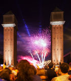 SEPTEMBER: Feuerwerke zeigen am 24 Lizenzfreie Stockfotografie