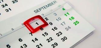 1 september. First of september stock photos