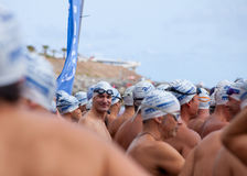 13. September 2014 Gran Canaria, Meer Schwimmen Lizenzfreie Stockfotos