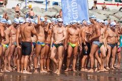 13. September 2014 Gran Canaria, Meer Schwimmen Lizenzfreie Stockfotografie