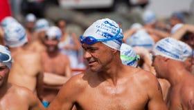 13. September 2014 Gran Canaria, Meer Schwimmen Lizenzfreie Stockbilder