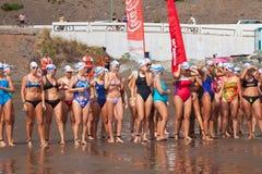 13 September 2014, Gran Canaria, overzees zwemt Royalty-vrije Stock Afbeeldingen