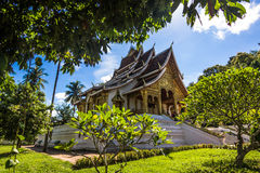 20. September 2014: Hagedorn Pha-Knalltempel in Luang Prabang, La Lizenzfreie Stockfotografie