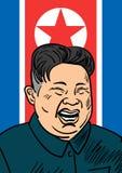 September 06, 2017: Hand drawn portrait of the smilling leader of North Korea Kim Jong-un. September 06, 2017: Hand drawn portrait of the smilling leader of Royalty Free Stock Photos