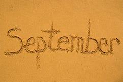 September in het zand Royalty-vrije Stock Fotografie
