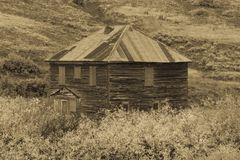 Historic True Grit Cabin, Hastings Mesa, near Ridgway, Colorado, USA - site of True Grit Motion Picture. SEPTEMBER 23, 2017 - Historic True Grit Cabin, Hastings royalty free stock images