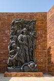 14 September 2017 Holocaust museum Yad Vashem Jerusalem. The impressive sculpture of the Warchau ghetto uprising. Created by Natha. 14 September 2017 Holocaust Stock Images
