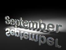 September im Silber Lizenzfreie Stockfotos
