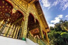 September 20, 2014: Ingång till templet för hagtornPha smäll i Luang Prabang laos Arkivbild