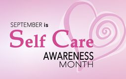 Free September Is Self Care Awareness Month Stock Images - 125697074