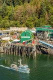 September 14, 2018 - Juneau, Alaska: Alaskan commercial fishing departing harbor stock photos