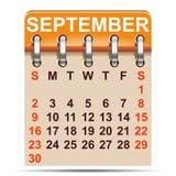 September-kalender van het jaar van 2018 - vector stock illustratie