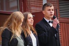 1 september, Kennisdag in Russische school Dag van kennis Eerste Dag van School Stock Afbeelding