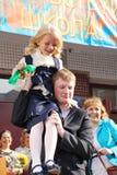 1 september, Kennisdag in Russische school Dag van kennis Eerste Dag van School Royalty-vrije Stock Afbeeldingen