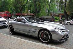5 september, 2017 Kiev - de Oekraïne Stadscentrum hypercar tuning Mercedes-Benz SLR McLaren 722 Uitgave royalty-vrije stock afbeeldingen
