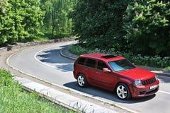 18. September 2012 Kiew Jeep Grand Cherokee SRT8 Grobes Auto nicht für den Straßenverkehr stockbilder