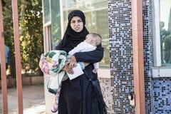Syrian refugees entering Turkey Stock Photos