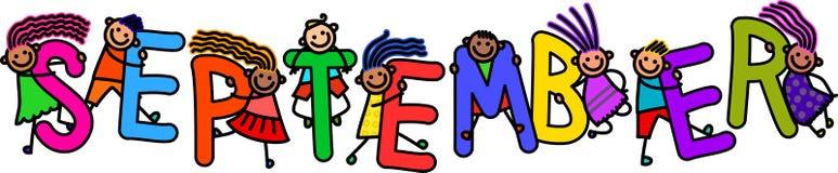 September-Kinder lizenzfreie abbildung