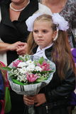 September 1, Knowledge Day in Russian school. Day of Knowledge. First day of school. Royalty Free Stock Images