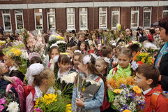 September 1, Knowledge Day in Russian school Stock Images