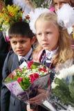 September 1, kunskapsdag i rysk skola Dag av kunskap första skola för dag Royaltyfria Bilder